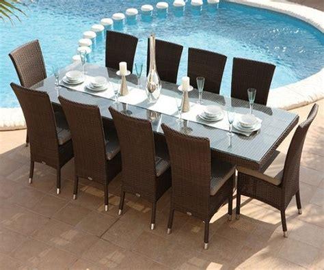 table et fauteuil de jardin en resine tressee table et chaises 10 places 224 1299 livraison gratuite