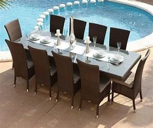 Chaise En Résine Tressée : table et chaises havana 10 places 1299 livraison gratuite ~ Dallasstarsshop.com Idées de Décoration