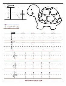 Printable Letter T Tracing Worksheets Preschool