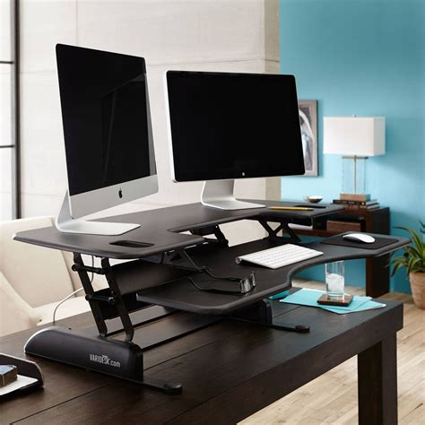 varidesk standing desk pro plus 48 large sit stand desk pro plus 48 varidesk 174
