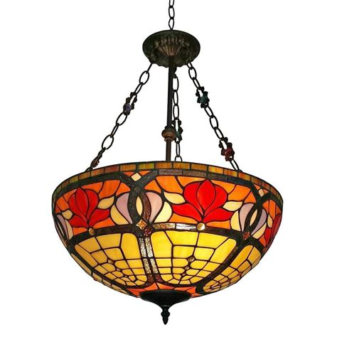 amora lighting 2 light tiffany style ceiling hanging
