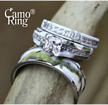 camo his hers wedding ring camoring