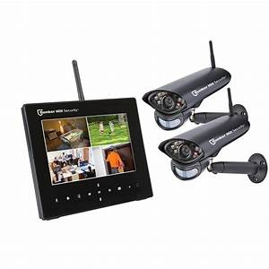 Bunker Hill Security 4 Channel Wireless Surveillance System 7 U0026quot  Monitor 2 Cameras