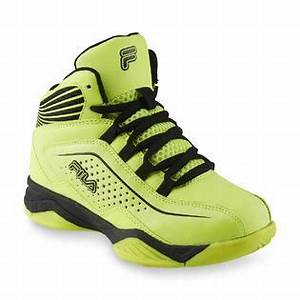 Fila Boy s Entrapment Neon Yellow Black High Top Athletic Shoe