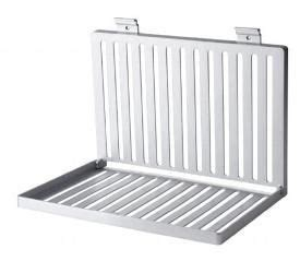 dish drying rack mounted   wall  folds flat