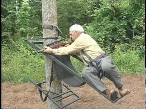 old man climbing deer stands tree lounge commercial 2