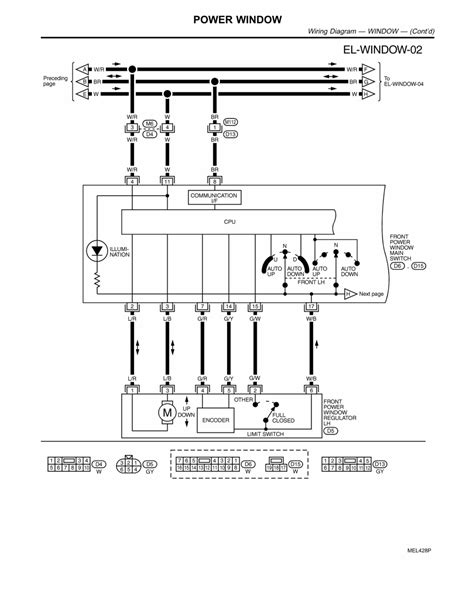 2006 Nissan Maxima Wiring Diagram Window by 2009 Nissan Pathfinder Power Window Wiring Diagram 2009
