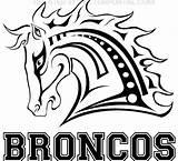 Broncos Vector Denver Coloring Pages Bronco League Fantasy Clipart Horse Svg Vectors Bucking Material Clip Head Freevector Team Ai Graphics sketch template