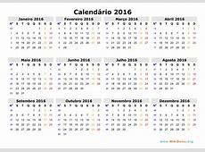 Calendário 2016 WikiDatesorg
