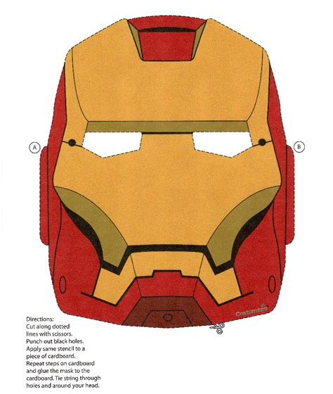 Ironman Mask Template by Iron Resolved Make The Cut Forum