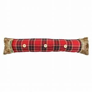 Coussin Bas De Porte : coussin bas de porte imitation fourrure ecossais rouge ~ Melissatoandfro.com Idées de Décoration