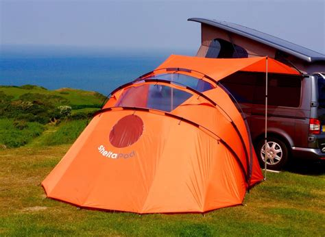 retractable awning tent adds extra roof  views   camper van campervan awnings tent