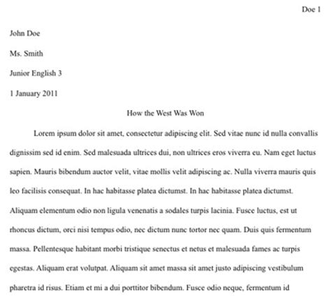 14356 college admissions essay format heading exle how to a college essay essay header format template