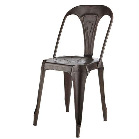chaise indus en metal effet vieilli multipls maisons du monde