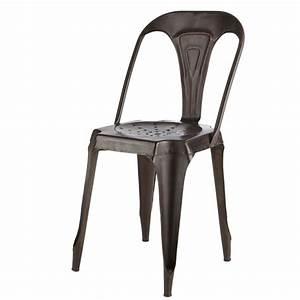 Chaise Cuir Maison Du Monde : chaise indus en m tal effet vieilli multipl 39 s maisons du monde ~ Teatrodelosmanantiales.com Idées de Décoration