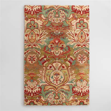 tufted area rugs floral medallion tufted wool area rug world market 2958