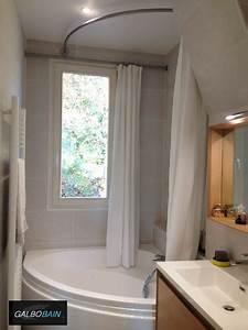 Fenetre Dans Douche : barres rideau de douche pour baignoire devant une fen tre galbobain ~ Melissatoandfro.com Idées de Décoration