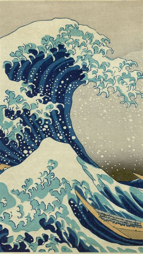 katsushika hokusai japan art iphone wallpapers iphone