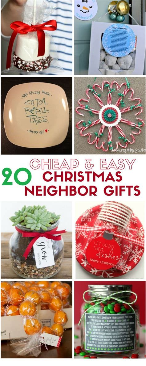 cheap and easy diy christmas neighbor gifts holidays