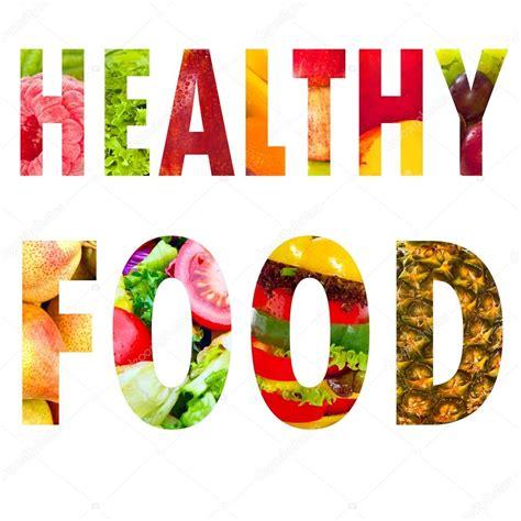 phrase cuisine zdrowa żywność słowo tekst wielkimi literami na białym tle