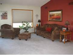 Here Are A Few Pictures Of The Kitchen And Living Room In Question One Of Our Facebook Fans Carole Willard Commented We Are Saturated Walls Lend Light Decor Accents Some Serious Depth Rusty Accent Wall Paint A Few Ideas For Your Home Home1