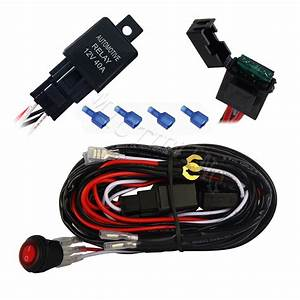 Mictuning Led Light Bar Wiring Harness 30 Amp Fuse On