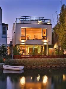 venice, beach, modern, luxury, home, exterior