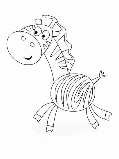 Zebra Printable Coloring Template Pages Templates Animal