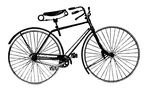 Vintage Advertising Clip Art  Antique Bicycle The