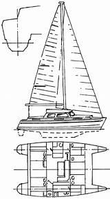 Catamaran Hulls Template Cat Catamarans sketch template
