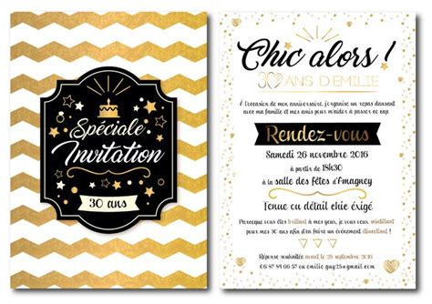 17 Best Ideas About Invitation 30 Ans On Pinterest
