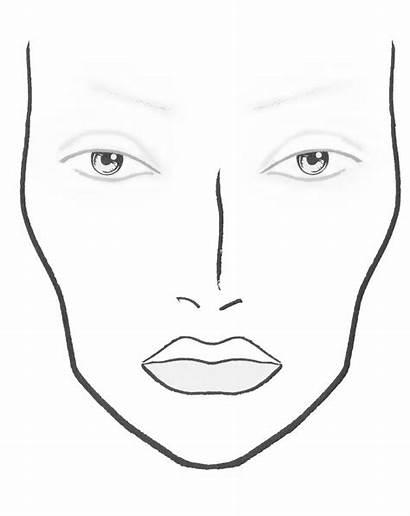Face Chart Mac Plastic Blank Charts Template