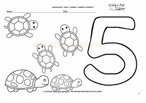 Coloring Number 5 Coloring Pages