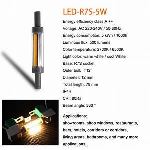 Ampoule Led R7s 78mm : 5w 9w r7s led ampoule 78mm 118mm cob ip44 360 lampe ~ Melissatoandfro.com Idées de Décoration