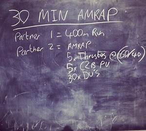 30 min AMRAP WO... Crossfit Beginner Quotes