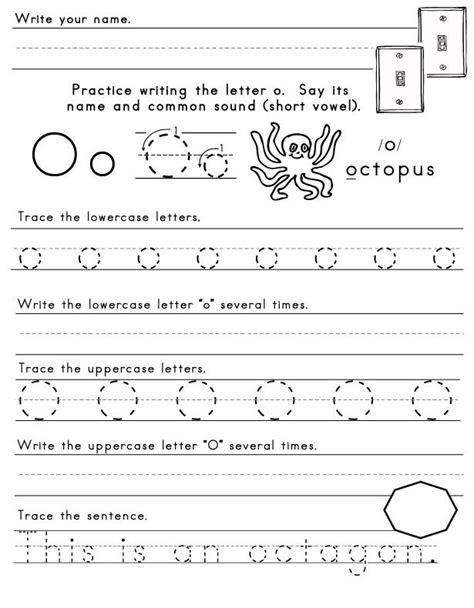 letter o worksheet 1 letters of the alphabet pinterest