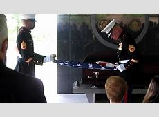 Tom Valerga's Military Funeral Honors 21gun salute Part
