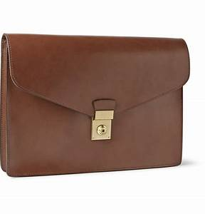 lotuff leather lock and key bridle leather document case With locking document case
