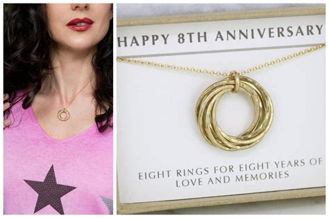 8 year anniversary gift 8th anniversary gift for wife 8 year anniversary necklace for