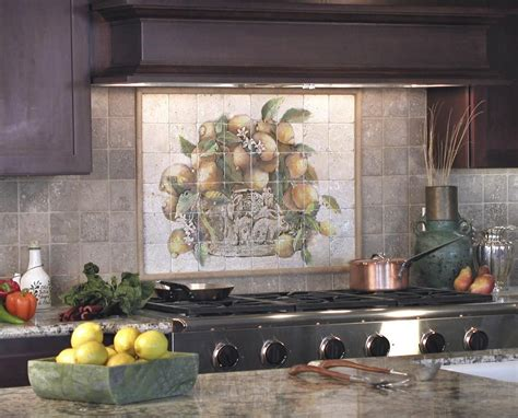 metal murals for kitchen backsplash the lemons mural is a favorite with customers as it is 9152