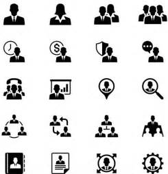 Black Business People Icons