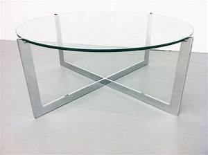 Round glass coffee table wood base rounddiningtabless for Glass top circle coffee table