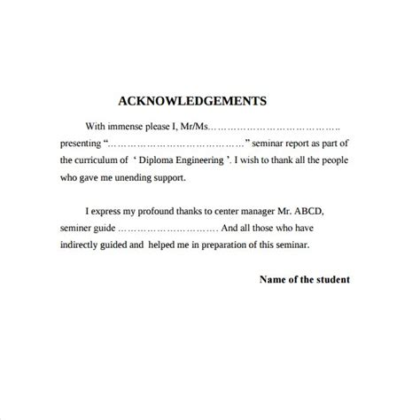 6+ Acknowledgement Report Samples - PDF, Word, Pages ...