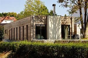 construction d39une maison bois a toit plat a mulhouse With maison en bois toit plat