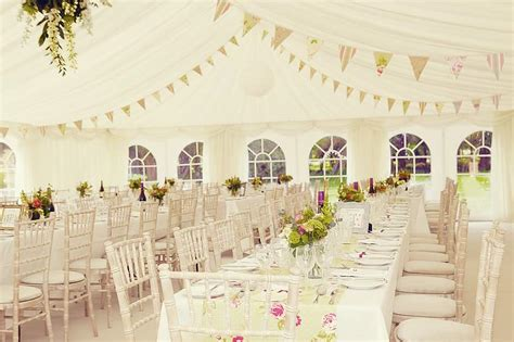 shabby chic wedding decorations hire wedding marquee in shabby chic style with bunting