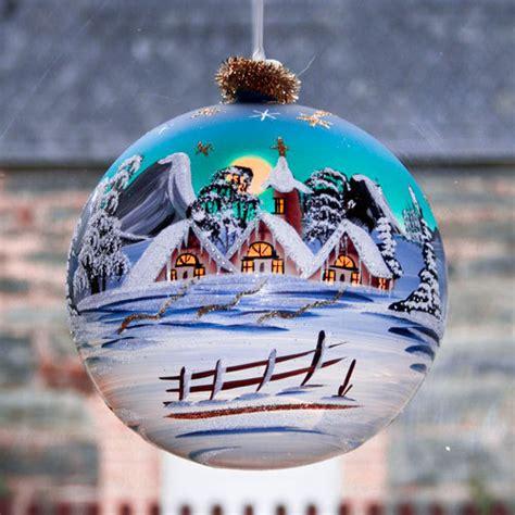 weihnachtsdeko fenster elektrisch beleuchtete glaskugel 18 cm lauschaer glaskunst
