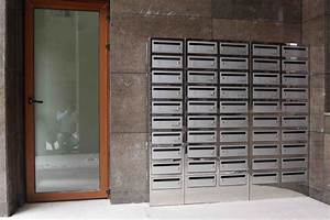 free standing rustproof apartment building stainless steel With letter boxes for apartment blocks