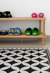 Tapis Vinyl Carreaux De Ciment : tapis vinyle carreaux de ciment pour d corer le sol avec ~ Melissatoandfro.com Idées de Décoration