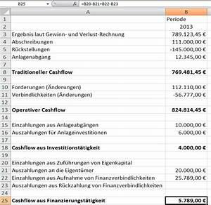 Cash Flow Rechnung : cashflow rechnung mit excel ~ Themetempest.com Abrechnung