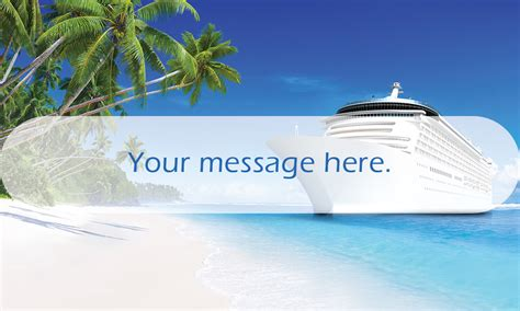 cruise ship travel agent business card design